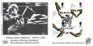 1998 National Health Service, Havering  William Gladstone FDC, The Heraldic City City of London H/S