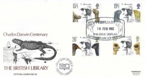 1982 Charles Darwin, British Library Official No.32 FDC, February Philatelic Displays British Library London WC H/S