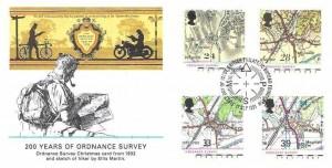1991 Maps, Fleetwood FDC, First Day of Issue Philatelic Bureau Edinburgh H/S