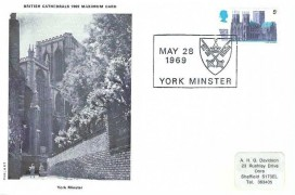 1969 British Cathedrals Set of 6 Philart Maxicard with Relevant Postmarks