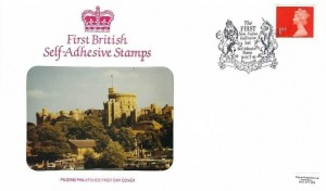 1993 First Non - Value Indicator Self Adhesive 1st Class Definitive Stamp, Pilgrim Philatelics FDC, The First Non-Value Indicator 1st Self Adhesive Stamp Windsor H/S