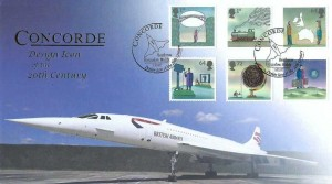 2007 World of Invention, Buckingham Covers Official FDC, Design Icon of the 20th Century Concorde Heathrow Hounslow Middx H/S