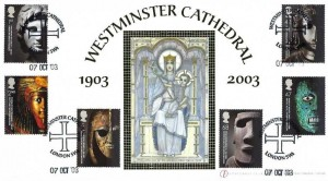 2003 British Museum, Buckingham Covers Westminster Cathedral Official FDC, Westminster Cathedral London SW1 H/S