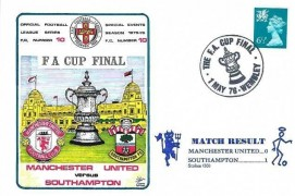 1976 Dawn Football FA Cup Final Manchester United v Southampton Cover, The FA Cup Final Wembley H/S