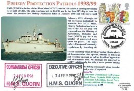1998 The Queen's Beasts, Royal Naval Cover Group FDC. Single 26p only, 7th Anniversary of the Royal Navy's Mine Warfare Force in the Gulf War Rosyth Scotland H/S.Signed by Officers HMS Quorn