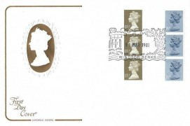 1981 11½p &14p Vertical Coils, Cotswold FDC, Windsor Berks H/S