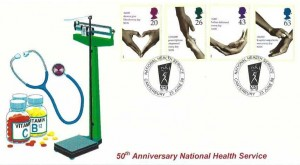 1998 National Health Service, Stamp Searchers Limited FDC, National Health Service Canterbury H/S