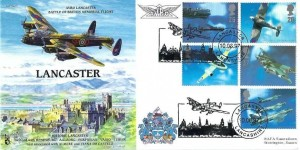 1997 Architects of the Air, RAF (P&P1) Official FDC, Lancaster Lancashire H/S