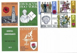 1971 General Anniveries, Universal FDC, 50th Anniversary the Royal British Legion British Forces 1182 Postal Service H/S