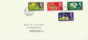 1964 Botanical Congress, University of Edinburgh Envelope FDC, Royal Infirmary Edinburgh 3 cds