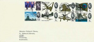 1965, Battle of Britain, University of Edinburgh Envelope FDC, Edinburgh FDI