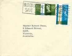 1965 Post Office Tower, University of Edinburgh Envelope FDC, Blood Donors Saves Lives Edinburgh Slogan
