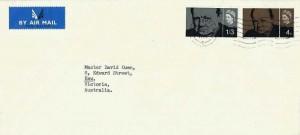 1965 Sir Winston Churchill, University of Edinburgh Envelope FDC, Edinburgh Cancel