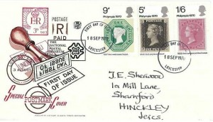 1970 Philympia, Stuart Special Postmark Cover FDC, Leicester FDI