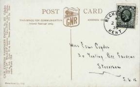 1935 4d Grey Green King George V Definitive Issue, GNR Express Passenger Engine No.272 Postcard FDC, Rochester Kent cds