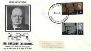 1965 Sir Winston Churchill, Illustrated In Memoriam FDC, London WC FDI