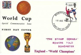 1966 England World Cup Winners FDC,Connoisseur FDC, Sheffield FD