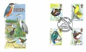1980 British Birds, Philart FDC, Wild Fowl Trust Peakirk Peterborough H/S