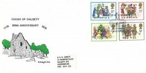 1978 Christmas, Parish of Dalgety Official FDC, Parish of Dalgety 1178 - 1978 Dalgety Bay Dunfermline Fife H/S