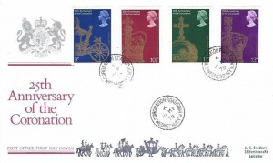 1978 25th Anniversary of the Coronation, Registered Post Office FDC, Coronation Road Wednesbury W.Mids cds+ Cachet