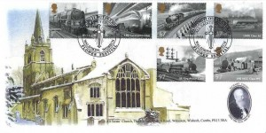 2010 Great British Railways, Trevor Dyke Official FDC,Stamping in Out in Church Flower Festival All Saints Church Walsoken Wisbech H/S