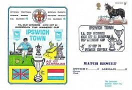 1978 Dawn FA Cup Winners Kick Off in European Cup Winners' Cup Ipswich Town v Alkmaar Ipswich Suffolk H/S