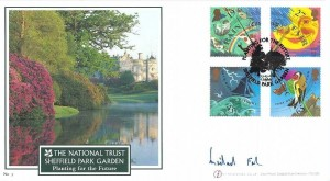 2001 The Weather, Buckingham Covers Official FDC, Planting for the Future Sheffield Park Garden Uckfield H/S, Signed by Weather Man Michael Fish