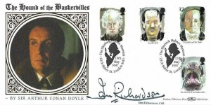 1997 Tales of Horror, Benham BLCS126b Official FDC, The Sherlock Holmes Museum 221b Baker St. London NW1 H/S, Signed actor Ian Richardson CBE