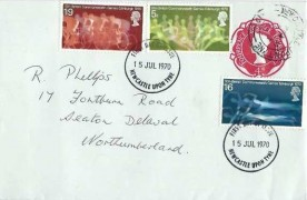 1970 Commonwealth Games, 4d Postal Stationery Envelope FDC, Newcastle Upon Tyne FDI & cds
