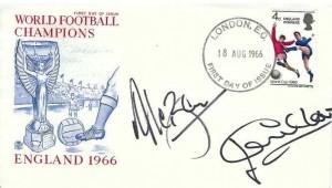 1966 England World Cup Winner,  Stuart FDC, London EC FDI, Signed by Jack Charlton & Allan Ball