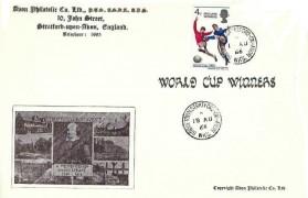 1966 England World Cup Winner, Avon Philatelic Co.Ltd FDC, Bridgetown Stratford on Avon cds