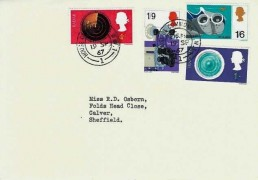 1967 British Discoveries, House of Common Stationery FDC, House of Commons SW1 cds
