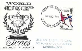 1966 England World Cup Winner, World Cup Illustrated FDC, Romford Essex FDI