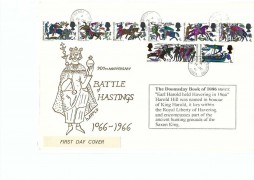 1966 Battle of Hastings, Quarles Secondary School for Boys Harold Hill FDC, Harold Hill Romford Essex cds
