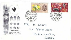 1963 Nature Week, National Productivity Year 1962 FDC, House of Lords SW1 cds