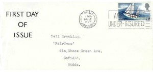 1967 Sir Francis Chichester, Display FDC, Are You Under-Insured Enfield Middlesex Slogan