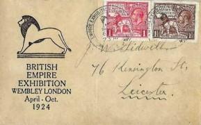 1924 Wembley Exhibition, British Empire Exhibition FDC, Empire Exhibition Wembley Park 1924 H/S