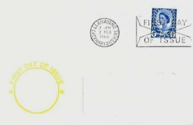 1966 4d Welsh Regional Issue, Yellow Display FDC, Llandudno Caernavonshire First Day of Issue Slogan