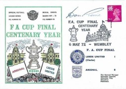 1972 FA Cup Centenary Year Leeds United v Arsenal Wembley Dawn Football Cover, Signed by the then Leeds Manager Don Revie