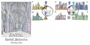 1969 British Cathedrals, Exeter Cathedral FDC, Taunton Somerset FDI