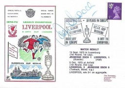 1973  League Champions & UEFA Cup Winners Liverpool FC Cover, Liverpool FC 10 Years in Europe Liverpool H/S, signed by John Toshack