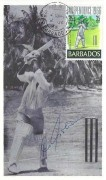 1966 Barbados Independence Maximum Card, Air Mail PO Barbados WI cds, Signed by Gary Sobers
