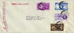 1949 Universal Postal Union, Arcadia Music Publishing Co.Ltd FDC, London W1 cds