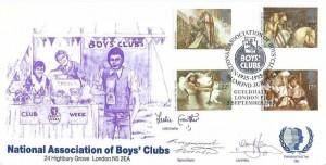 1985 Arthurian Legend, Official National Association of Boys' Club (NABC) FDC, National Association of Boys' Clubs Diamond Jubilee River Guildhall London EC H/S