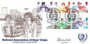 1985 Christmas, Official National Association of Boys' Club (NABC) FDC, National Association of Boys' Clubs Diamond Jubilee Althorp Northampton H/S