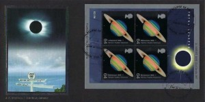 1999 Total Solar Eclipse, Bradbury Official FDC, Line of Totality Falmouth H/S