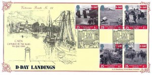 1994 D Day Bradbury Victorian Print No.86 Official FDC, with D Day Southampton Map H/S