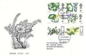 1967 Wild Flowers, Holmes Tolley FDC, Kingston Upon Thames FDI