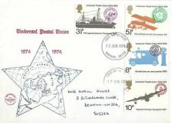 1974 Universal Postal Union, Philcovers FDC, Hastings Sussex FDI