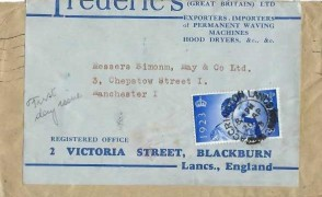 1948 Silver Wedding, Frederic's (Great Britain) Ltd FDC, 2½d Stamp only, Accrington Lancs. cds